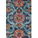 Network Rugs Blue Power Loomed Cotton Blend Rug