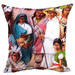 Vintage Beach Shack Indian Family Cushion Cover