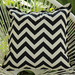 Bungalow Living Black & Ivory Chevron Outdoor Cushion