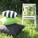Bungalow Living Black & Green Tropical Outdoor Cushion