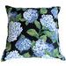 Bungalow Living Blue Hydrangea Cotton-Blend Cushion
