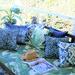 Bungalow Living Indigo Ikat Outdoor Cushion