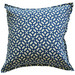 Bungalow Living Blue Geometric Outdoor Cushion