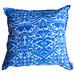 Bungalow Living Blue Cornflower Ikat Cotton Cushion