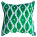 Bungalow Living Green & White Ikat Cotton Cushion