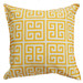 Bungalow Living Yellow & White Greek Key Outdoor Cushion