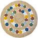 J. Elliot Multi-Coloured Charlie Cotton Round Rug
