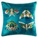 Kas Embroidered Quatro Velvet Cushion