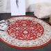 Lifestyle Floors Red Simone IX Round Rug