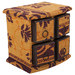 Lifestyle Traders 4 Drawer Box in Brown & Yellow