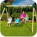 Plum Colobus 2 Piece Swing Set