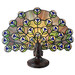 G & G Brothers Peacock Tiffany Table Lamp