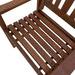Woodlands Outdoor Furniture Malay Shorea Wood Outdoor Armchairs