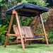 Breeze Outdoor Rivers 2 Seat Hardwood Swing with Canopy & Cushion