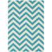 Atlas Flooring Turquoise Elle Chevron Rug