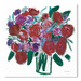 Americanflat Burgundy Roses On White Printed Wall Art