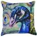 Rovan Peacock Head Cotton Cushion
