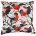 Rovan Red Robbins Cotton Cushion