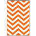 Home & Lifestyle Orange & White Laguna Chevron Outdoor Floor Mat