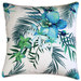 Glamour Paradise Blue Lagoon White Posey Outdoor Cushion