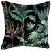 Glamour Paradise Black & Green Amazonia Trunks Outdoor Cushion
