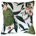Glamour Paradise White Exotic Blooms Outdoor Cushion