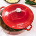 Chasseur Red Chasseur 28cm Round Cast Iron French Oven