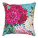 Luxotic Bella Rosa Teal Cushion Feather Filled