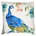 Luxotic Peacock Velvet Cushion