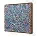 Art Illusions Party Blue Canvas Wall Art by Helen Joynson