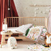 Hiccups by Linen House Multi-Coloured Woodlandia Cotton Cot Coverlet