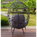 Naturally Provinicial Charcoal Bourne Standing Outdoor Basket Chair