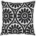 Maison by Rapee Marguerite Black Cotton Cushion