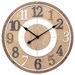 Toki 60cm Light Timber Brandon Silent Wall Clock