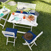 Temple & Webster 5 Piece Entertainer Hamptons Outdoor Dining Set & Butler's Tray