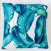 Sunday Homewares Green Printed Banana Leaves Outdoor Cushion