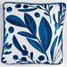Sunday Homewares Navy Foliage B Cotton Blend Cushion