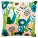 Sunday Homewares White Cottage Garden Cotton Cushion