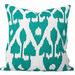 Cushion Bazaar Turquoise Ikat Amare Cushion