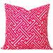 Cushion Bazaar Pink Watermelon Geometric Maze Cushion