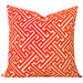 Cushion Bazaar Burnt Orange Geometric Maze Cushion