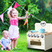 Levede Cream Kids' Wooden Kitchen Play Set