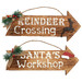Maine & Crawford 2 Piece Deluxe Arrow Sign Wooden Ornament Set