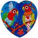 Maxwell & Williams Rainbow Girls Love Hearts Ceramic Coasters