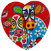 Maxwell & Williams Happy Moo Day Love Hearts Ceramic Coasters