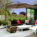 Milano Outdoor 3m Latte Sawyer Cantilever Umbrella with Cover