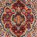 The Handmade Collection Red & Cream Wool Persian Moud Rug