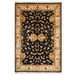 The Handmade Collection Black & Gold Wool Indian Rug