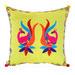 Bohemia & Co Lyrebird Embroidered Cotton Cushion