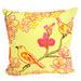Bohemia & Co Yellow & Pink Bird Cush Cotton Cushion